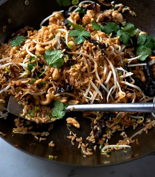Brown rice, ginger, cashew & black fungus stir-fry | Karen Martini